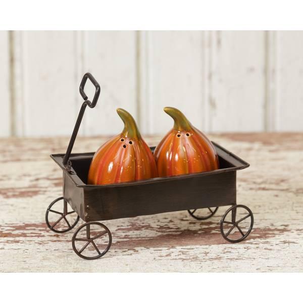 Ceramic Pumpkin Salt & Pepper Shakers