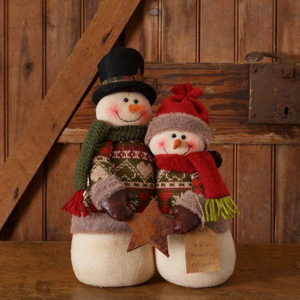 Snow Lodge Snowman Family