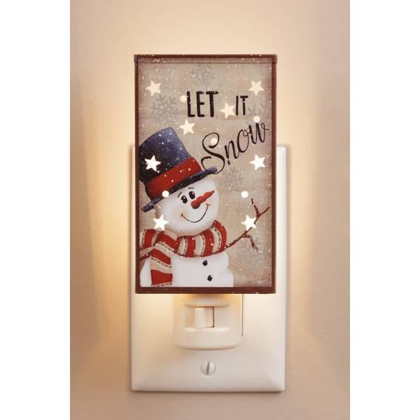 Let It Snow Snowman Night Light