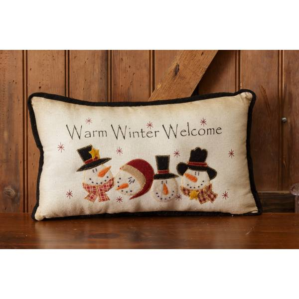 Warm Winter Welcome Pillow
