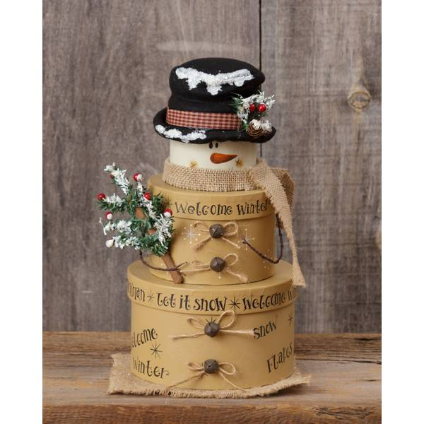 Welcome Winter Nesting Boxes Set of 3