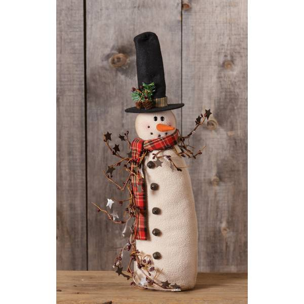 Snowman with Berries
