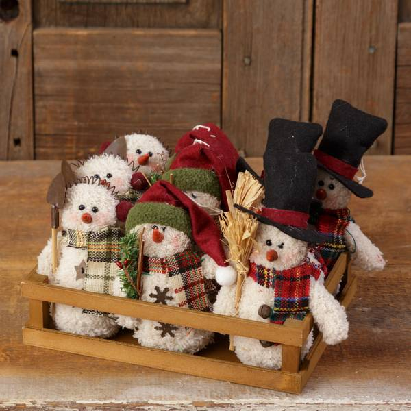 Plush Snowmen Assorted