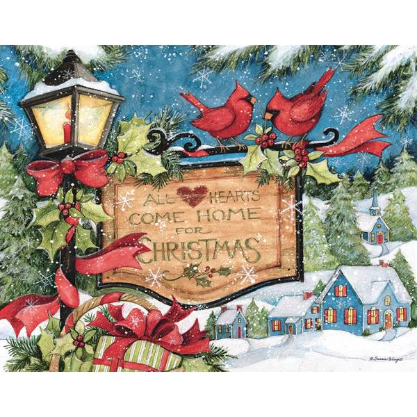 18-Count  Hearts Come Home Christmas Cards