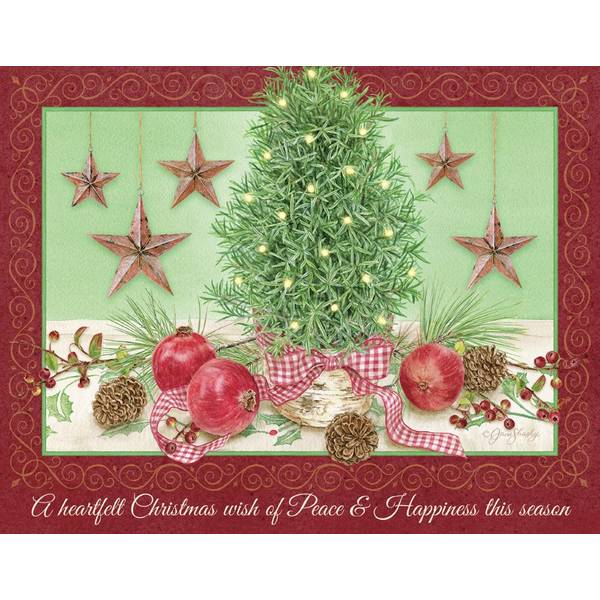 18-Count  Rosemary Tree Holiday Cards