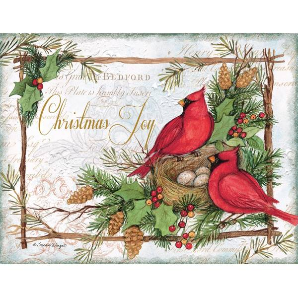 18-Count 2 Styles Cardinal Christmas Cards