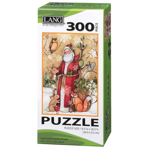300-Piece  Woodland Santa Puzzle