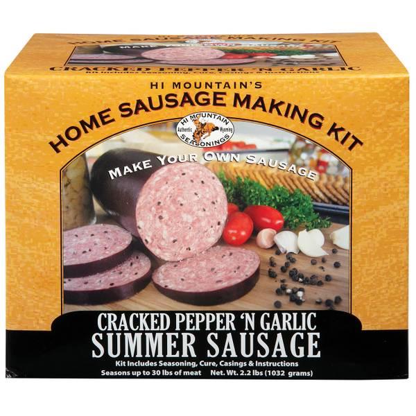 Cracked Pepper 'n Garlic Summer Sausage Kit
