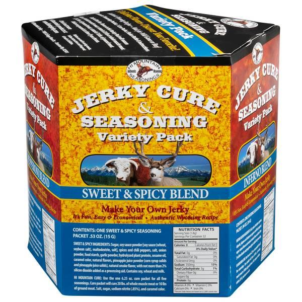 5-Flavor Jerky Seasoning Variety Pack