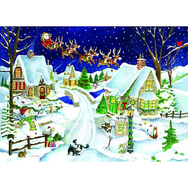 16-Count Santa's Coming  Holiday Cards