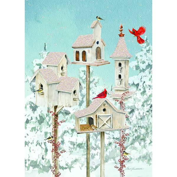 14-Count Winter Holiday Birdhouse Cards
