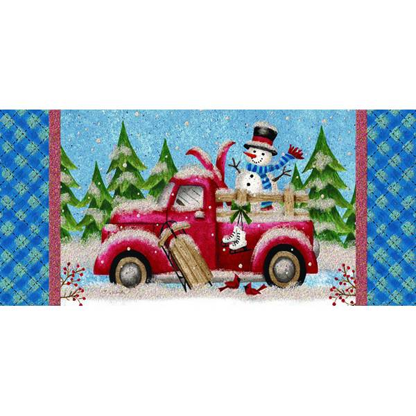 14-Count Winter Truck Long Holiday Cards