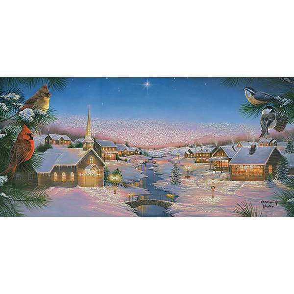 14-Count Silent Night Long Holiday Cards