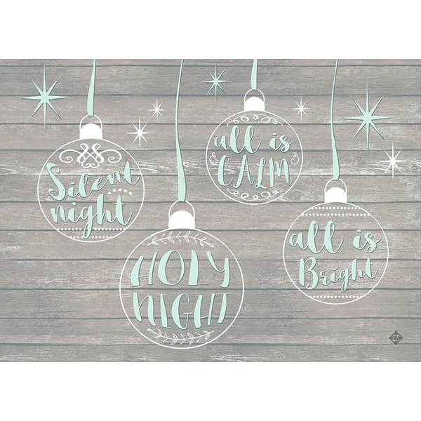 14-Count Silent Night Foil Christmas Cards