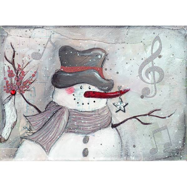 12-Count Starry Snowman Holiday Cards