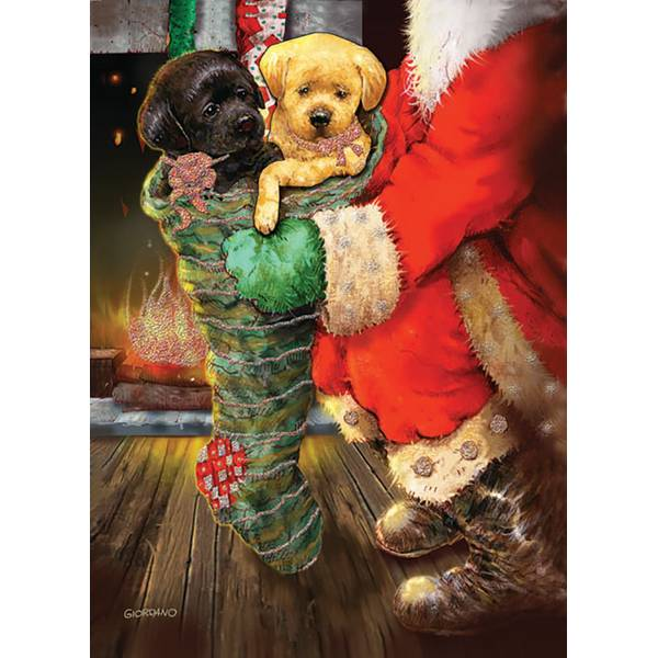12-Count Fireside Puppies Christmas Cards