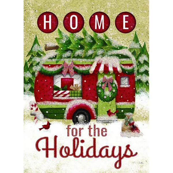12-Count Holiday Trailer Cutout Christmas Cards