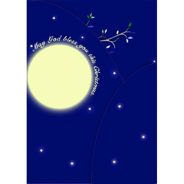 12-Count A Star Is Born Cmas Trifold Cards