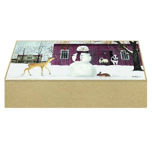 16-Count Christmas in the Country Keepsake Box