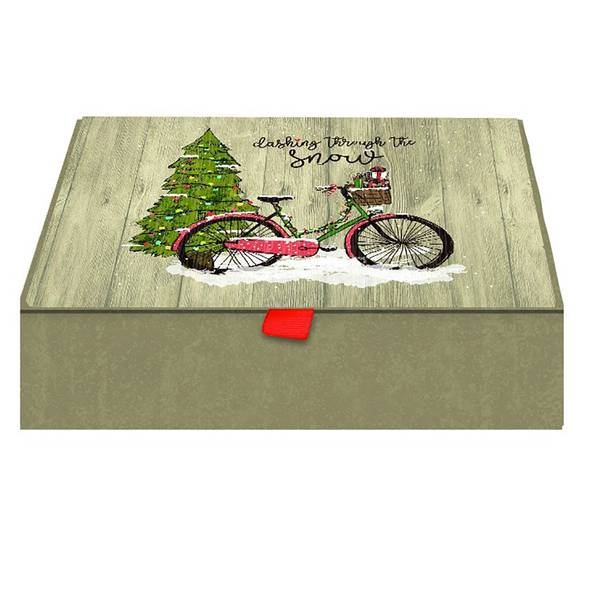 20-Count O Christmas Tree Cards Keepsake Box