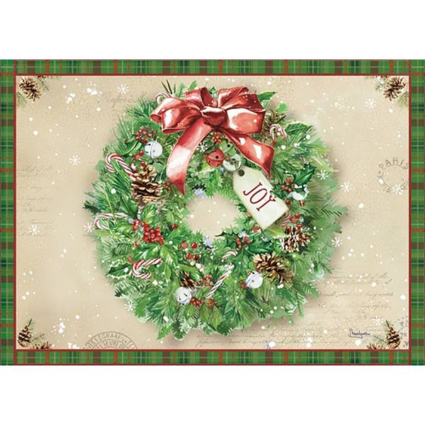 16-Count Holly Wreath  Christmas Cards