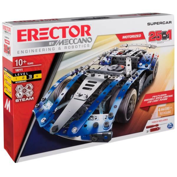 25 Model Building Set SuperCar