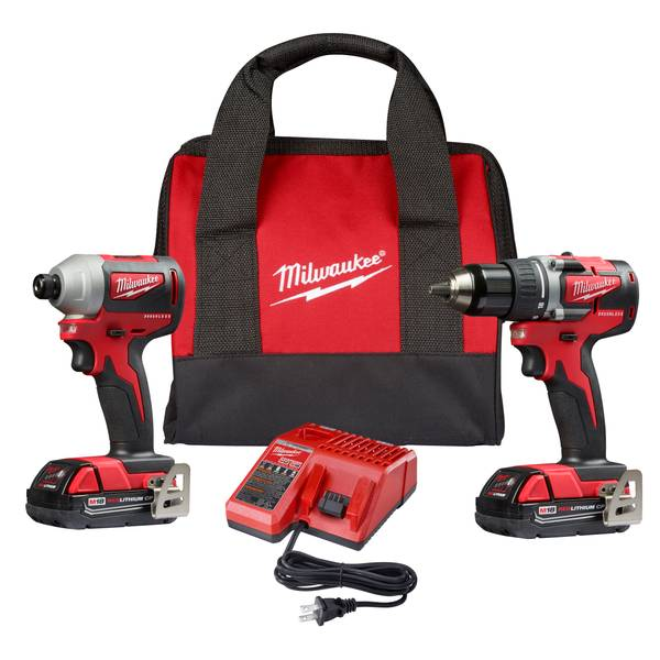 2892-22CT M18 18V Lithium-Ion Cordless Compact Brushless Drill  Driver/Impact Combo Kit