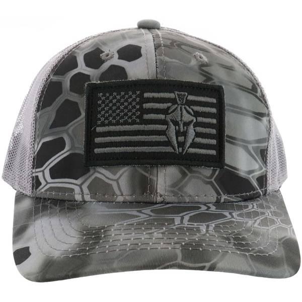 437368e33cc Outdoor Cap Kryptek Flag Logo Camo Meshback Cap