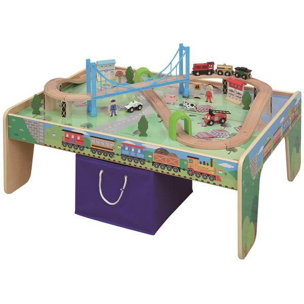 Activity Table with 50-Piece Train Set