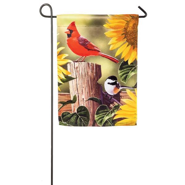 Sunflowers and Songbirds Garden Flag