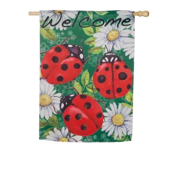 Ladybugs on Green House Flag