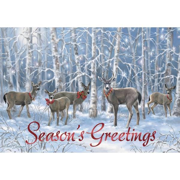 10-Count Seasons Greeting Deer Classic Cards