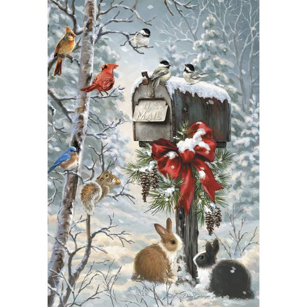 10-Count Mailbox Bird Classic Christmas Cards