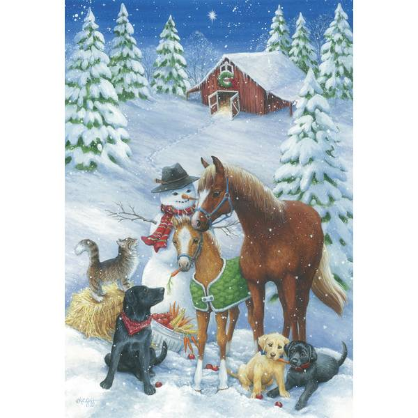 10-Count Horse & Friends Classic Holiday Cards