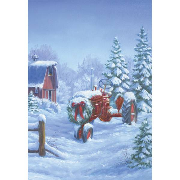 10-Count Holiday Tractor Classic Christmas Cards