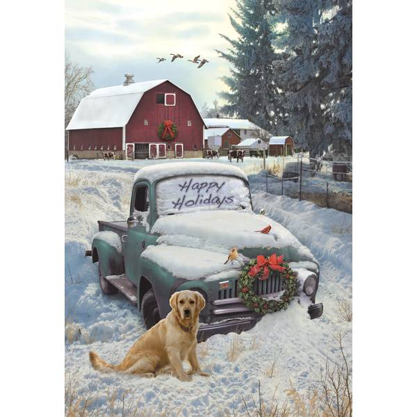10-Count Holiday Truck Classicsic Holiday Cards