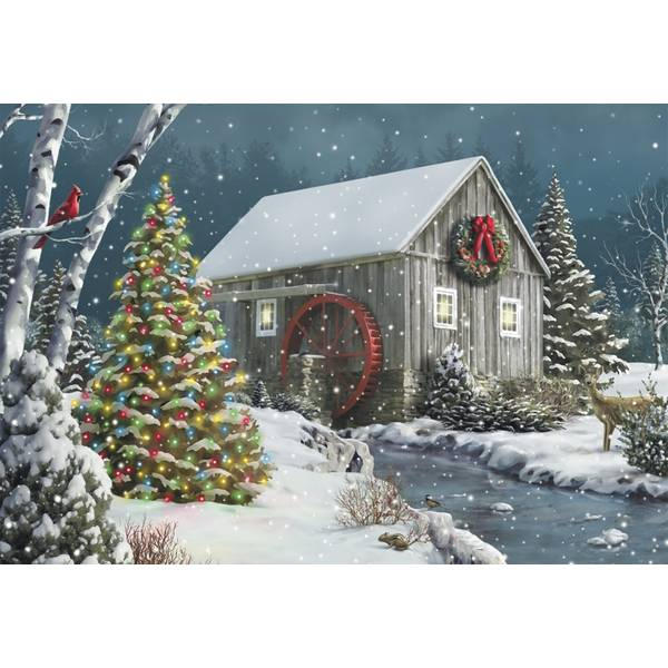 10-Count Christmas Tree Classic Christmas Cards