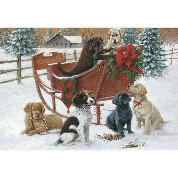 10-Count Puppy Classic Christmas Cards