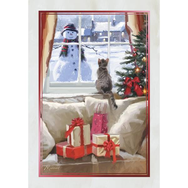 10-Count Window Kitten Classic Christmas Cards