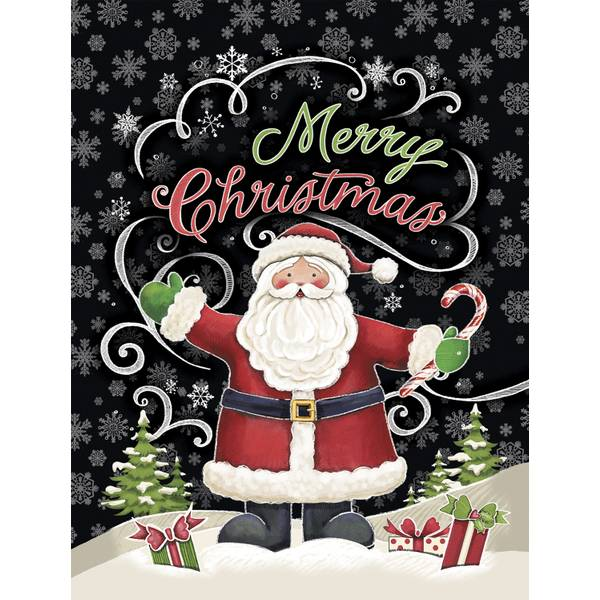 12-Count Santa Notelet Christmas Cards