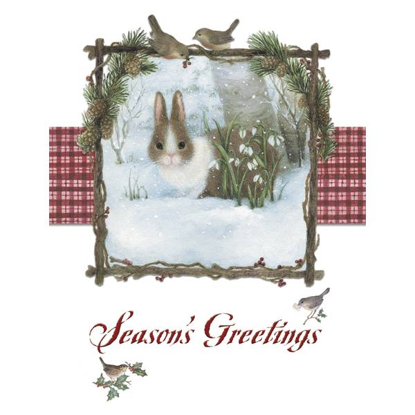 12-Count Bunny Notelet Holiday Cards