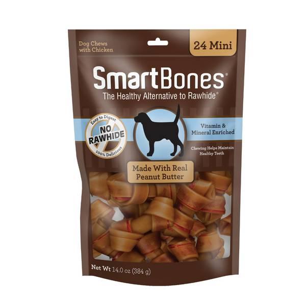 SmartBones 24 Mini Vegetable, Chicken & Peanut Butter Dog Chews