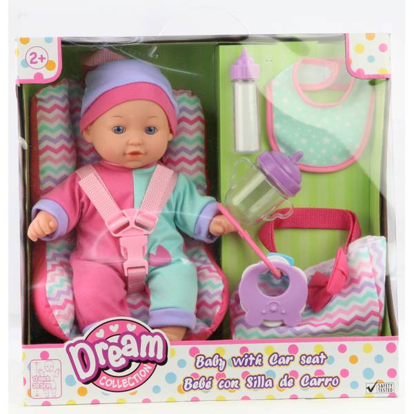 """12"""" Baby Doll with Car Seat"""