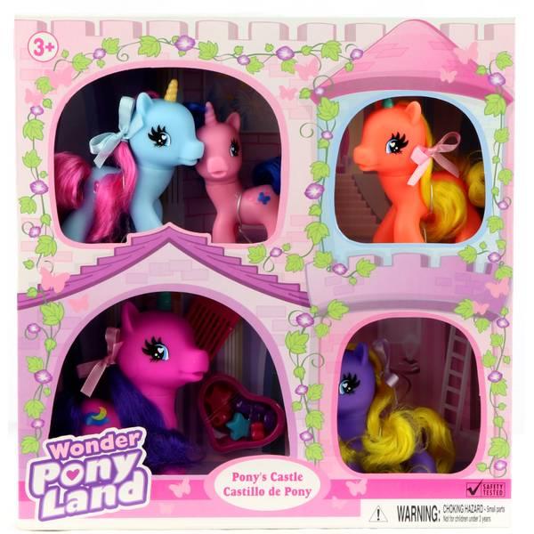 5-Pack Wonder Pony Land Pony's Castle Unicorn Family Assorted