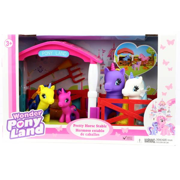 Wonder Pony Land Pretty Unicorn Stable Assortment