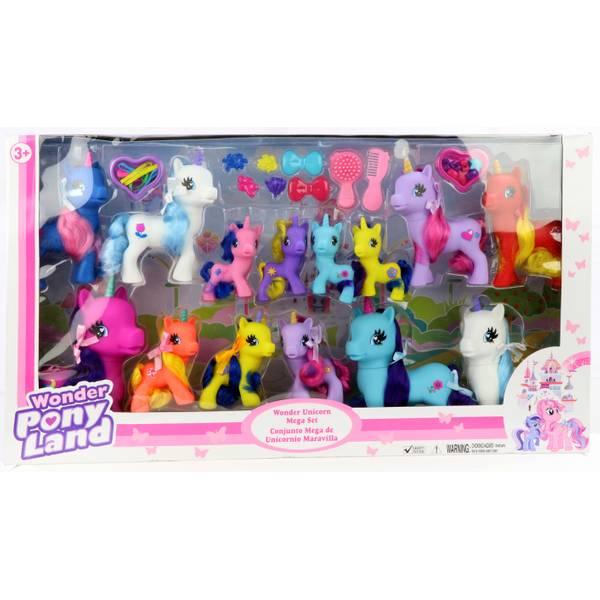 14-Pack Wonder Pony Land Unicorn Mega Set Assortment