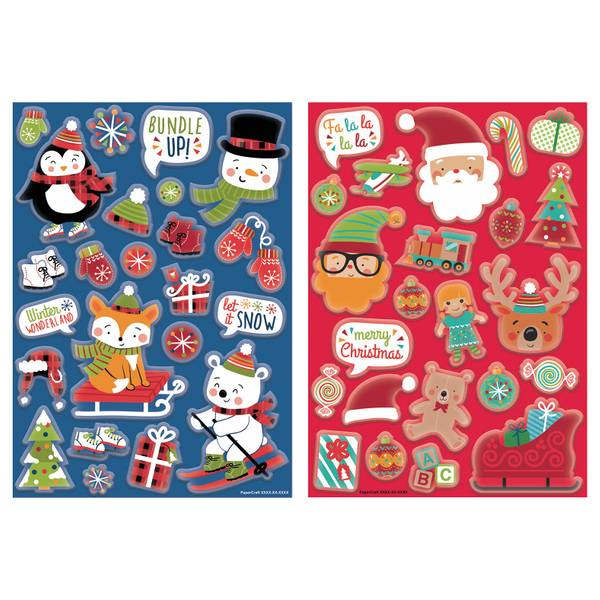 Holiday Bubble Stickers Assortment