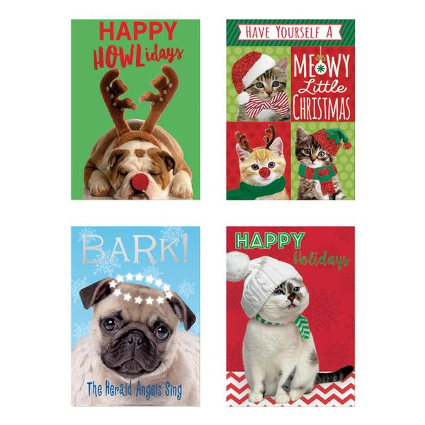 12-Count Pets Christmas Cards