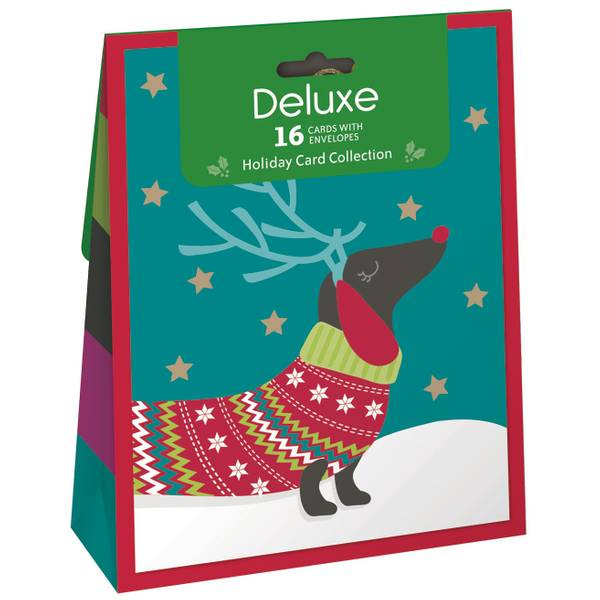 16-Count Lunchbag Christmas Card Pack