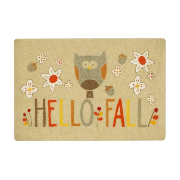 Hello Fall Owl Printed Rug